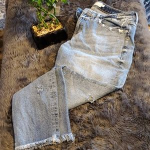 Torrid High Rise Straight Distressed Jeans 14T